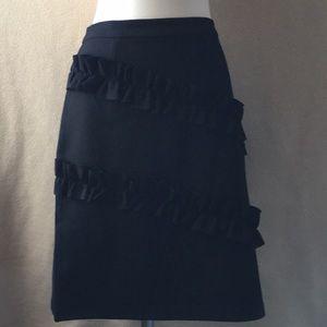 August silk black stretch skirt, NWT